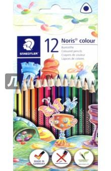Карандаши цветные Noris Colour (12 цветов, трехгранные) (187C12) карандаши цветные трехгранные noris club jumbo 6 цветов 128nc6