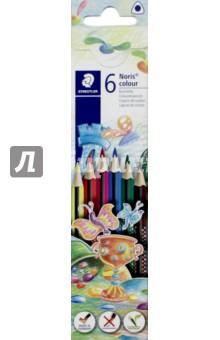 Карандаши цветные Noris Colour (6 цветов, трехгранные) (187C6) карандаши цветные noris colour 24 цветные трехгранные 187c24