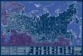 Карта Российской Федерации. Светящаяся в темноте, в тубусе