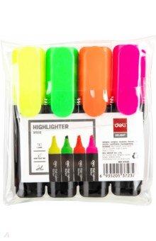 Набор маркеров текстовых 4 цветов Deli (E37232) набор смываемых маркеров brush 8 цветов