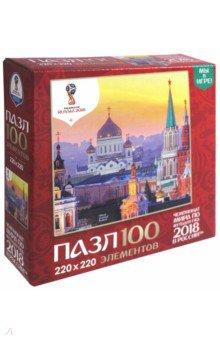 Пазл-100 Города. Вечерний закат в Москве (03796) пазлы origami пазл дм зайчик и волчонок 25 элементов