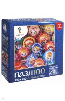 Пазл-100 Матрешки. Лучшие (03801) пазлы origami пазл дм зайчик и волчонок 25 элементов