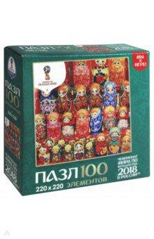 Пазл-100 Матрешки. Деревянные куклы (03806) пазлы origami пазл дм зайчик и волчонок 25 элементов
