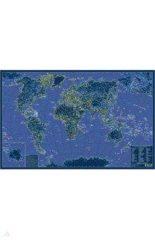 Карта мира. Светящаяся в темноте