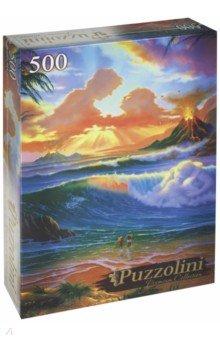 Puzzle-500 Закат для влюблённых (в) (ALPZ500-7700) puzzle 500 яркие совы alpz500 7701