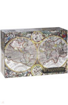 Puzzle-500 Древняя карта мира (KBPZ500-7698) Puzzolini