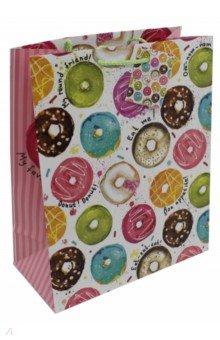 "Пакет бумажный ""Пончики"" (26х32,4х12,7 см) (76579)"