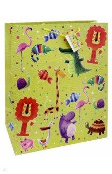 Zakazat.ru: Пакет бумажный Веселые зверята (40,6х48,9х19 см) (44214).