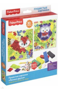 FisherPrice. 3D-лепка Лесные друзья (03756) игровые наборы fisherprice игрушка пирамидка веселый крокодил
