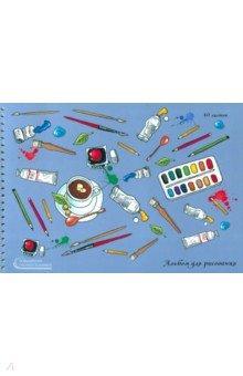 Альбом для рисования. 40 листов, гребень, Беспорядок (АСКЛ401812)