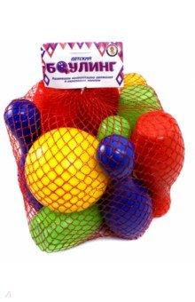 Купить Боулинг (10 кеглей + 1 мяч), Улыбка, Игры для активного отдыха