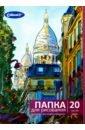 Обложка Папка для рисования 20л,А4,Город,FK-2420