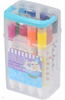 Купить Фломастеры-штампики Funcolor (12 цветов) (32-0038), Bruno Visconti, Сопутствующие товары для детского творчества