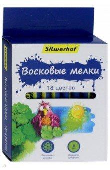 """Восковые мелки """"Пластилин коллекция"""" (18 цветов) (884168-18)"""