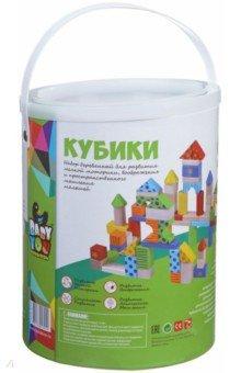 Купить Набор игровой деревянный Кубики 60 деталей (TKB349/ ВВ1504), BONDIBON, Кубики логические