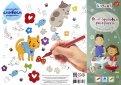 Коврик для творчества-многоразовая раскраска «Котики», А3 (mr-110)