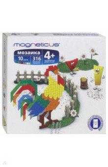 Мягкая магнитная мозаика Петух (316 элементов, 10 цветов) (MM-015) magneticus мягкая магнитная мозаика 174 элемента