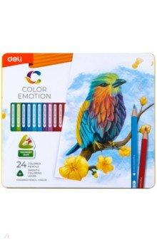 Карандаши 24 цвета Color Emotion липа (EC00225)