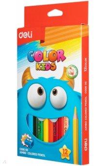 Карандаши 12 цветов Color Kids трехгранные (EC00600) карандаши color emotion 36 цветов трехгранные ec00230