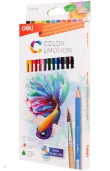 Карандаши 12 цветов акварельные Color Emotion липа (EC00700)