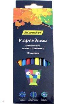 Карандаши 18 цветов Цветландия (134212-18) карандаши 12 цветов ластик цветландия