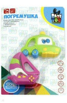 Купить Набор погремушек Автомобиль, Корабль (2 штуки) (6601-21A), BONDIBON, Другие игрушки для малышей