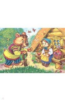 Купить Пазл-15 Маша и медведь (П-1523), Аделаида, Пазлы (12-50 элементов)