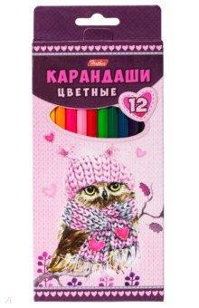 """Карандаши цветные """"Мягкие и пушистые"""" (12 цветов) (BKc_12760)"""