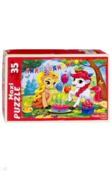 Купить Maxi puzzle-35 Пони на празднике (ПМ-6364), Рыжий Кот, Пазлы (12-50 элементов)