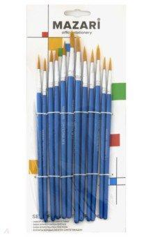 Набор кистей художественных, нейлон 12 штук (M-5142)