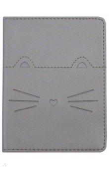 Обложка для паспорта Kitty (IPC023/silver)