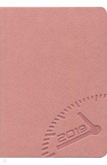 """Ежедневник датированный на 2019 год """"Буйвол"""" (А6+, 176 листов, розовый) (47708)"""