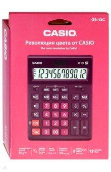 Калькулятор настольный электронный 12-разрядный, бордовый (GR-12C-WR)
