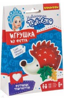 Купить Набор для творчества Ёлочные игрушки из фетра. Ёжик (ВВ3085), BONDIBON, Изготовление мягкой игрушки