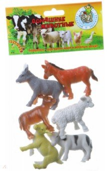 Купить Набор животных Детёныши домашних животных 6 штук (ВВ1632), BONDIBON, Животный мир