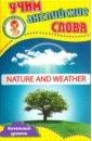 Природа и погода. Учим английские слова. Развивающие карточки