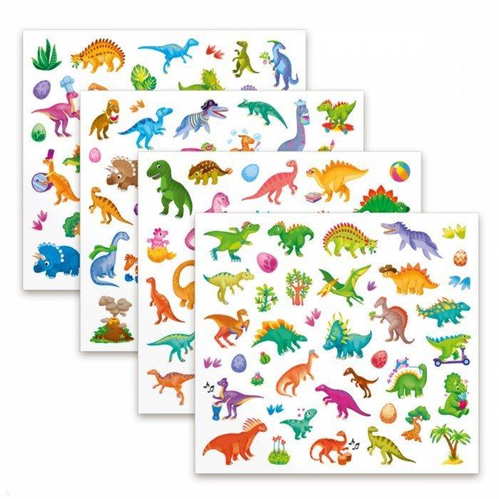 """Иллюстрация 1 из 5 для Наклейки в папке """"Динозавры"""", 150 штук   Лабиринт - игрушки. Источник: Лабиринт"""