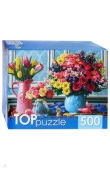 Купить TOPpuzzle-500 Вазы с яркими цветами (ХТП500-4234), Рыжий Кот, Пазлы (400-600 элементов)