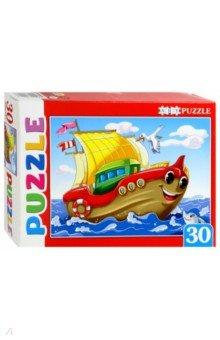 Купить Artpuzzle-30 ЯРКИЙ КОРАБЛИК (ПА-4499), Рыжий Кот, Пазлы (12-50 элементов)