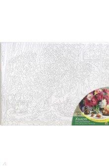 Купить Холст с красками 30х40 Букет цветов (Х-0401), Рыжий Кот, Создаем и раскрашиваем картину