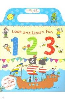Купить Look and Learn Fun: 123 (Sticker Book), Bloomsbury, Книги для детского досуга на английском языке