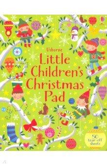 Купить Little Children's Christmas Pad, Usborne, Книги для детского досуга на английском языке