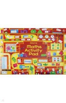 Купить Maths Activity Pad, Usborne, Книги для детского досуга на английском языке