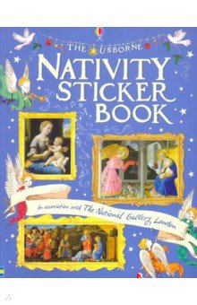 Купить Nativity sticker book, Usborne, Книги для детского досуга на английском языке