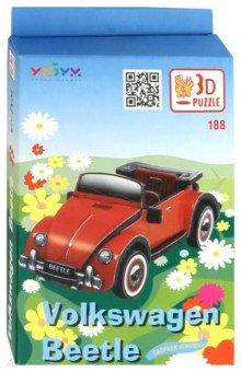 Купить Объемный пазл. Сборная игрушка Volkswagen Beetle (188), Умная бумага, Объемные пазлы