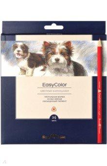 Карандаши цветные 24цв,EASYCOLOR,30-0032
