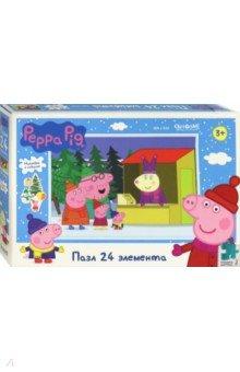Купить Peppa Pig. Пазл-24 Отдыхаем всей семьёй (04307), Оригами, Пазлы (15-50 элементов)