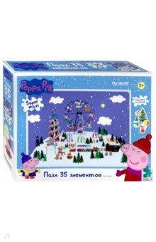 Купить Peppa Pig. Пазл-35 Зимний день в парке (04312), Оригами, Пазлы (15-50 элементов)