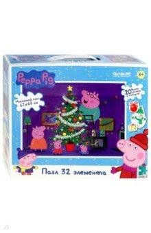 Купить Peppa Pig. Пазл напольный Наряжаем ёлочку (04318), Оригами, Пазлы (12-50 элементов)