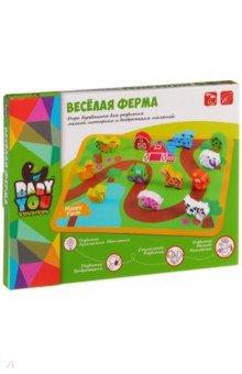 Купить Набор Веселая Ферма бусины для нанизывания (TKB510/ВВ1109-1), BONDIBON, Другие игрушки для малышей